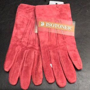 ISOTONER Suede Everyday Lined Gloves For Women